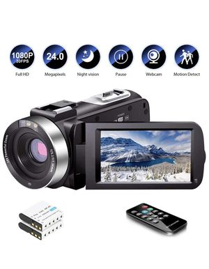 Video Camera Camcorder Full HD 1080P 30FPS 24.0 MP IR Night Vision Vlogging Camera Recorder 3.0 Inch IPS Screen 16X Zoom Camcorders YouTube Camera for Sale in Fairfax, VA