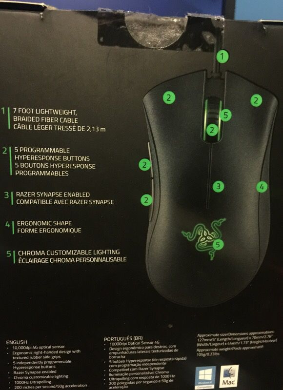 Razer DeathAdder Chroma RGB for Sale in Los Angeles, CA - OfferUp