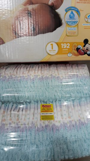 Huggies size 1 2 packs 64 each 128 total each pack $14 for Sale in Inman, SC