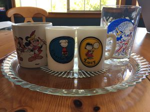 4 pcs of collectible mugs and glass for Sale in Redmond, WA