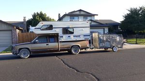 Trailer only not the truck or camper for Sale in Manteca, CA