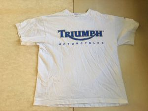 Triumph Motorcycles short sleeve white T-shirt from the mid-80s for Sale in Bellflower, CA