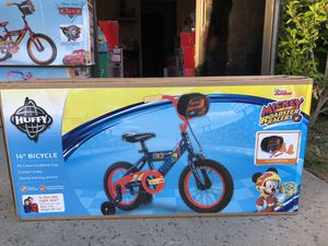 Brand New and Sealed Mickey Mouse 14 inch Bike with Training Wheels for Kids for Sale in Covina, CA