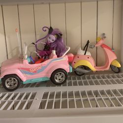 Barbie Car, Vespa And Barbie Doll for Sale in San Francisco, CA