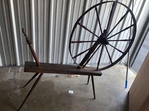 Antique yarn spinning wheel for Sale in Richmond, VA