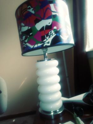 Glass base lamp with colorful lamp shade for Sale in Nashville, TN