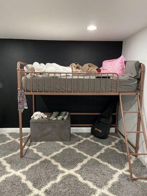 Rose Gold Metal Loft Bed Frame for Sale in Brentwood, NY