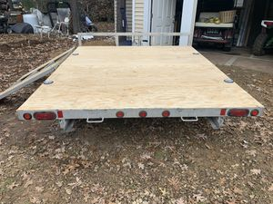 Double aluminum trailer for Sale in Roselle, IL