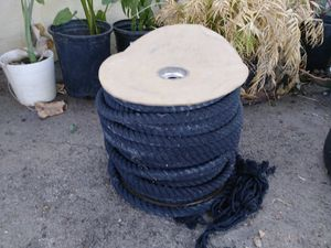 Spool of black cotton rope over an inch thick good horses are animals $60 or best offer for Sale in Los Angeles, CA