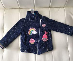 Dreamworks Trolls Girls Toddler Jacket Full Zipper Sz 4T for Sale in Las Vegas, NV