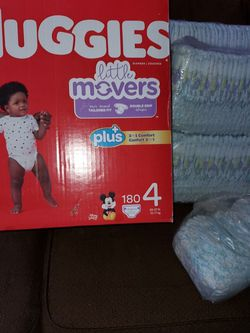 Huggies Little Movers SIZE 4-2 Unopened FULL Packs(120 Total Diapers) for Sale in Puyallup,  WA