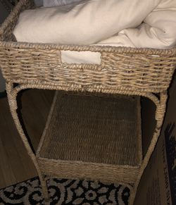 Wicker Beverage/Bar/Plant Stand/Kitchen/Utility Cart for Sale in Los Angeles,  CA