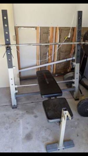 OLYMPIC WEIGHT BENCH PRESS PLUS MORE for Sale in San Diego, CA