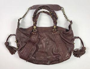 969ff7359a6a Steve Madden Women s Burgundy Red Leather Shoulder Handbag Hobo Bag Fringe  Steven for Sale in Anaheim
