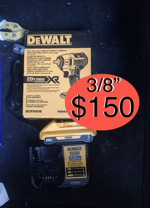 "Dewalt impact wrench 3/8"" + 3.0 + charger $150 for Sale in Austin, TX"