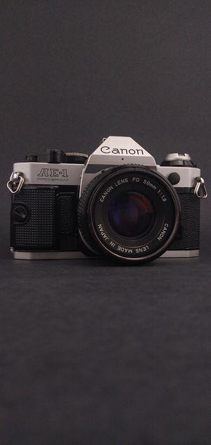 Canon AE-1 Program SLR 35mm Film Camera Bundle #4 for Sale in Denton, TX