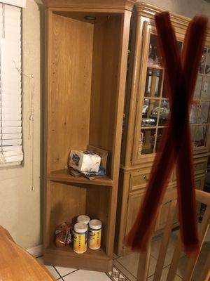 Corner light up cabinet no glass for Sale in Turlock, CA