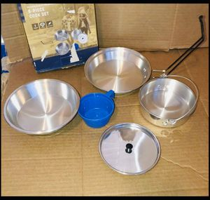 Stansport 1-Man Aluminum 5-piece Cook Set NEW for Sale in Modesto, CA