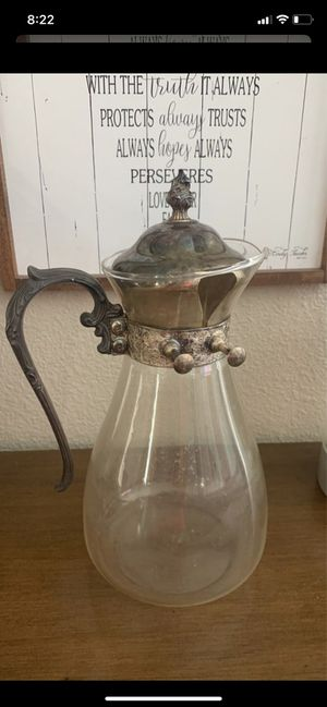 Glass Teapot antique entertaining for Sale in Vancouver, WA