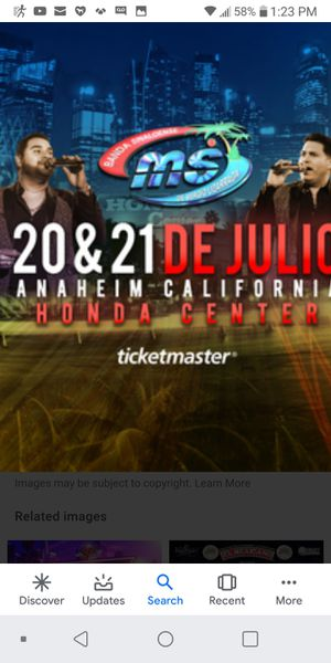 Tickets for Sale in Bell Gardens, CA