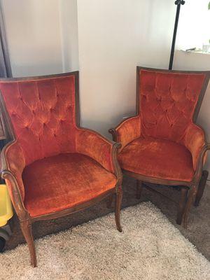 Orange antique chairs for Sale in Las Vegas, NV