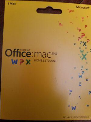 Microsoft Office: Mac 2011 for Sale in Tampa, FL