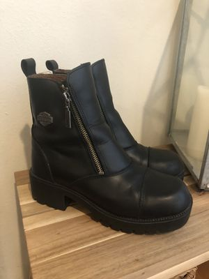 Harley Davidson size 7 leather boots for Sale in Seattle, WA