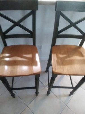 Solid Wood Bar Stools (2) for Sale in West Palm Beach, FL