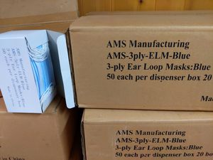 3ply Face Masks earloop 500/10 boxes of fifty for Sale in Auburn, WA