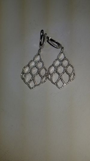 Sterling Silver and Diamond Earrings for Sale in Sacramento, CA