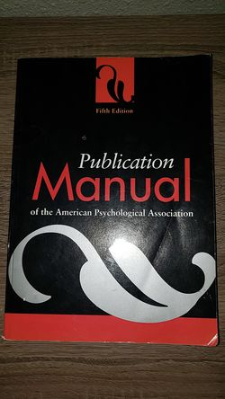 Publication manual for Sale in St. Louis,  MO
