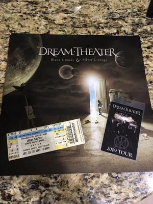 Dream theater tour program, backstage pass and ticket for Sale in Atlanta, GA