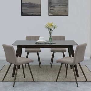 Dining Chairs 4Pcs Furniture Sillas de Comedor Oliver Tufted Gray for Sale in Miami, FL