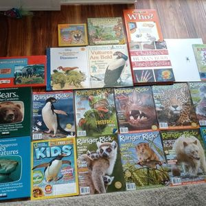 (44) Children's Science/Animals/Dinosaur Books & Magazines! Ages 3-8-$45(san jose south) for Sale in San Jose, CA