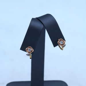 14k Rose Earrings with Diamonds for Sale in Los Angeles, CA