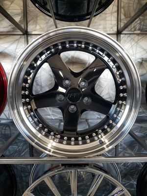PRICE PER WHEEL 18×8.5 18×9.5 black face chrome lip 5x114 wheels jdm style rims for Sale in Tempe, AZ