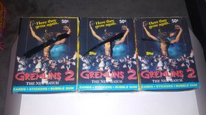 GREMLINS 2 Full Trading Card Boxes *vintage* for Sale in Sacramento, CA