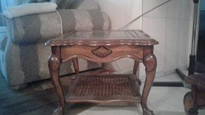 3 Antique Glass tables canter,and two sides tables for Sale in Lynwood, CA
