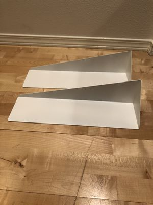 Two Modern Metal White Shelves (Umbra Stealth Wall-Mount Shelf) for Sale in Seattle, WA