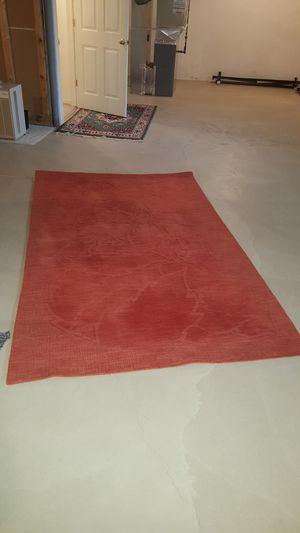 Burnt Orange Wool Area Rug, 5'x8' for Sale in Rochester, MI