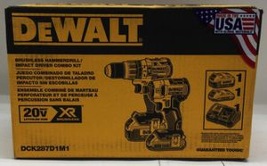 Dewalt 20-Volt MAX XR Cordless Brushless Hammer Drill/Impact Combo Kit (2-Tool) with (1) Battery 2Ah and (1) Battery 4Ah for Sale in Stickney, IL