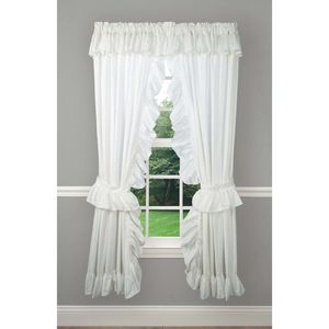 """NEW 63"""" Pricillas wide Ruffle Rod Pocket curtain for Sale in West Covina, CA"""