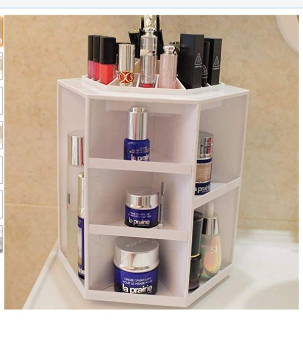 Large Rotating Makeup Organizer, 360° Rotating Adjustable Carousel Storage for Cosmetics,  New
