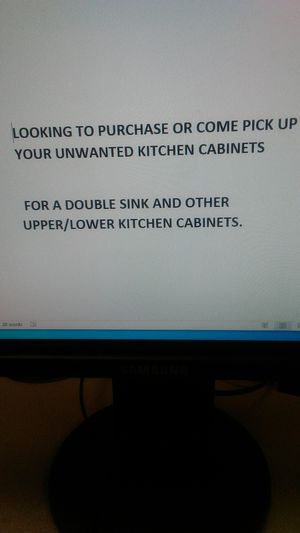 Looking for kitchen cabinets for Sale in Live Oak, TX
