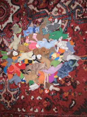50 Pack Rare Beanie Babies With Ronald Buddy Bag Colorful Plushes for Sale in Ballwin, MO
