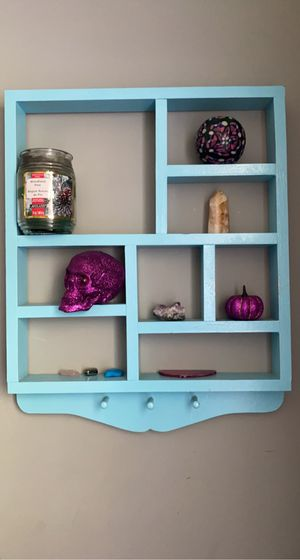 Blue wall decor with shelves and hooks! for Sale in Myrtle Beach, SC