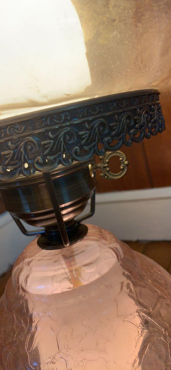 Antique glass parlor lamp