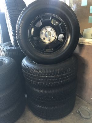 Stock 17 in Chevy Rims and Michelin Tires for Sale in Norco, CA