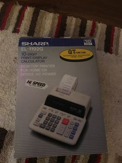 Sharp 10-digit high speed calculator with paper printer for Sale in Bethesda,  MD