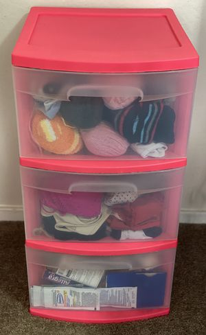 Plastic Storage 3 Drawer Cart for Sale in San Francisco, CA
